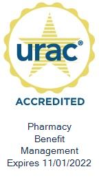 URAC Accredited - Pharmacy Benefit Management - Expires 11/01/2022
